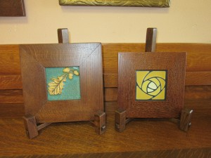 New Art Tiles in Oak Frames