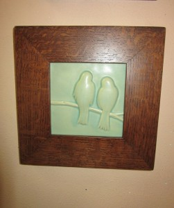 New Love Birds Art Tile