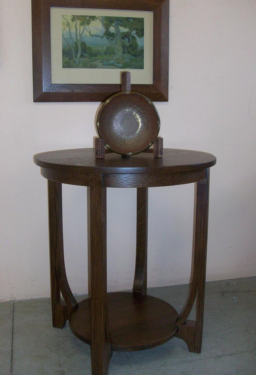 Lovely Mission Oak Side Table With Cut Outs « Phil Taylor Antiques U2013 Ottumwa,IA