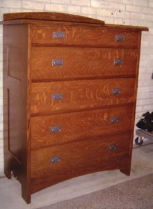 New Mission Oak Chest of Drawers