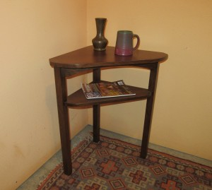 New Mission Oak Corner Table