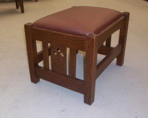 New Mission Oak Footstool