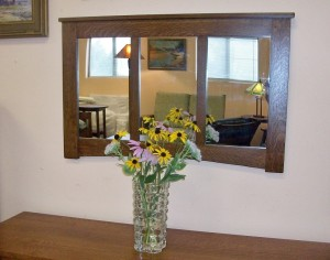 New Mission Oak Framed Mirror