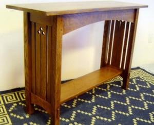 New Mission Oak Sofa Table