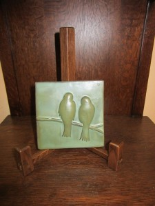 New 4 inch Art Tile, New Oak Easel