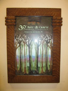 New Oak Banded Prairie Frame with poster