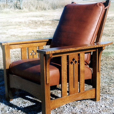 New Flat-arm Morris Chair with cut out design & New Morris Chair with cut out design « Phil Taylor Antiques u2013 OttumwaIA