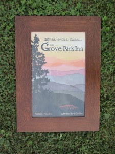Grove Park Poster in New Oak Frame